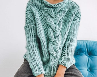 Knit Kit - Chunky Cable Knit Jumper - Make your own Super Chunky knit Sweater