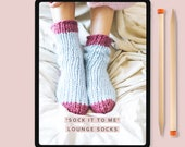 Knitting Pattern - Lounge Socks 'Sock it to me' - Instant Downloadable pattern