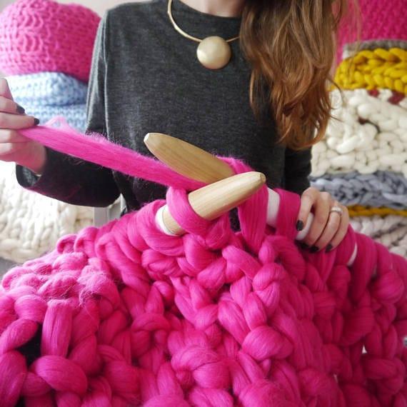 Decke-Kit DIY Grobstrick stricken DIY Decke Kit | Etsy