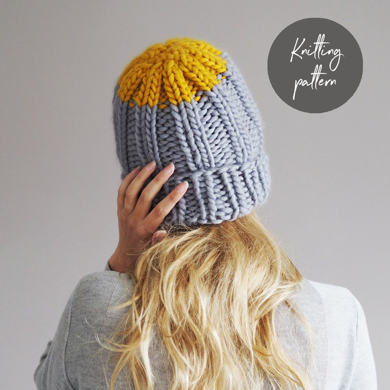 Chunky Hat knitting pattern super chunky knitted hat beanie  d93f8ac5195