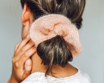 Knit Kit - Mini Mohair Scrunchie Set - Make 2 x scrunchies per kit