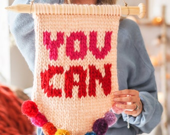 Wall Hanging - Ready Made 'You Can' Slogan Banner - Perfect Christmas Gift