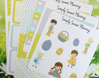 Easter Planner Sticker Kit - Happy Planner - Erin Condren - Plum Planner - Functional Stickers - Matte - Weekly Planner