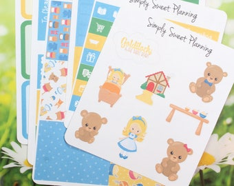 Goldilocks Planner Sticker Kit - Happy Planner - Erin Condren - Plum Planner - Matte - Weekly Planner - Functional Sticker - Stickers