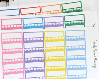 Weekly Goal Planner Stickers - Happy Planner - Erin Condren - Functional Stickers - Weekly Planner - Goal Setting