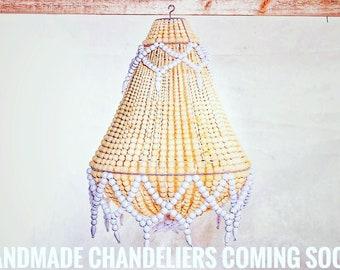 Handmade Wooden Beaded Chandeliers