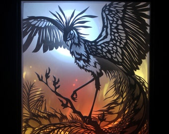 """Laser Cut Reproduction of """"Enkindle"""" - 5x7"""" Oneiroframe"""