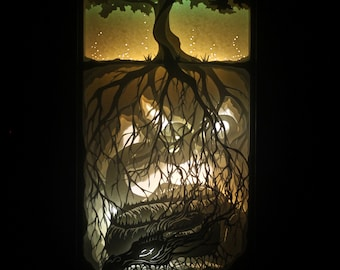 """Laser Cut Reproduction of """"Roots"""" - 6x14"""" Oneiroframe"""