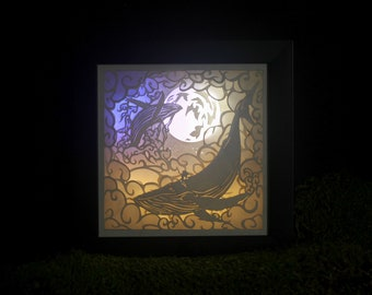 """Laser Cut Reproduction Oneiroframe of """"Skysong"""" - 6x6"""""""