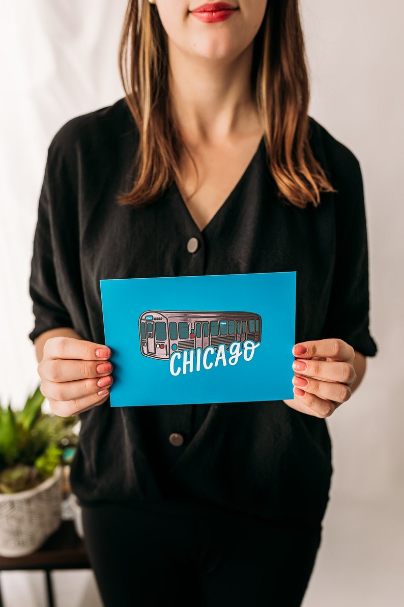 Hand-Lettered Chicago Foil Art Prints Art Prints from Chicago IL Local Chicago Artist Made Windy City Prints Chicago Design Prints