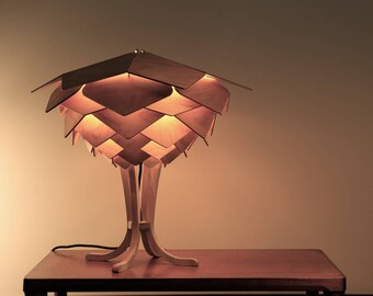Saigon table lamp dxf files for milling / laser cutting