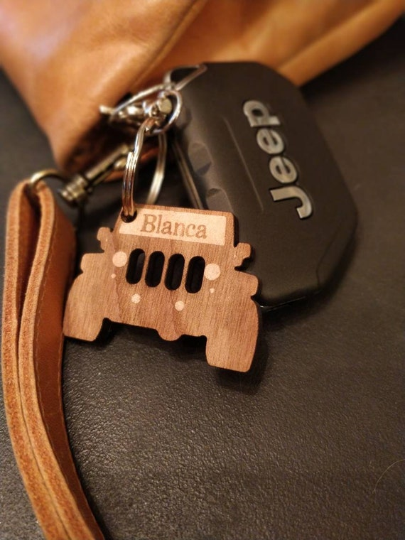 Jeep Keychain Leather