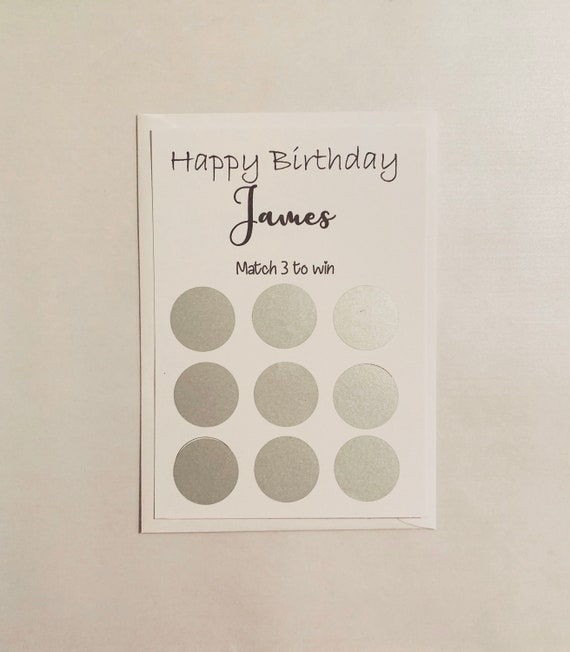 Personalised Birthday Card Flower Scratch off Card* Gift reveal surprise women