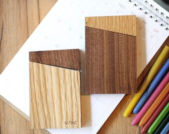 Wood Business Card Holder / Case【Personalization Available】