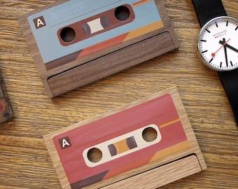 Cassette Business Card Case / Holder 【Custom Engrave Available】