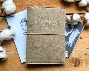 Felt mother passport sleeve | Mother Passport Envelope | Gift for expectant mothers