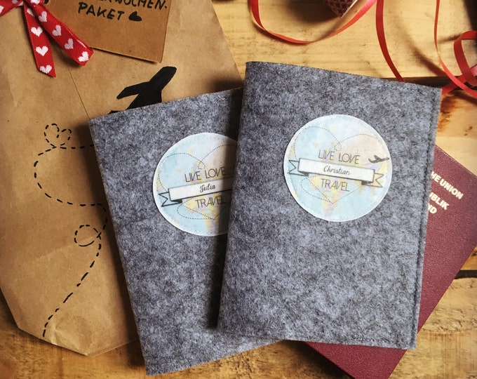 Featured listing image: Passport sleeve set-the Perfect wedding gift for your honeymoon