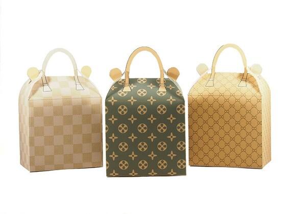 Fashion Party. 3 x Fashion Handbag Favor Boxes. Printable  f0cbb4d5aca08