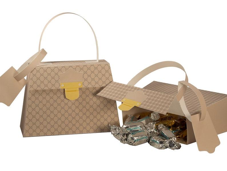 Fashion Party. Fashion Handbag Favor Boxes. Printable Party image 0
