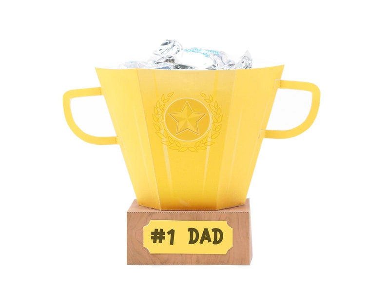Trophy Favor Box. Sports theme favor box. Prize favor box. image 0