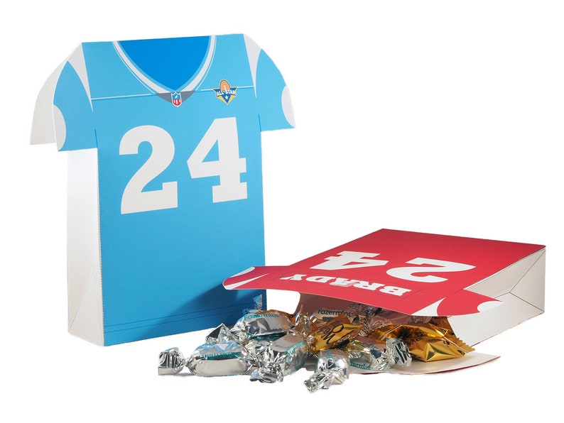 Football themed Favor bag. Football Sports Jersey Favor bag. image 0