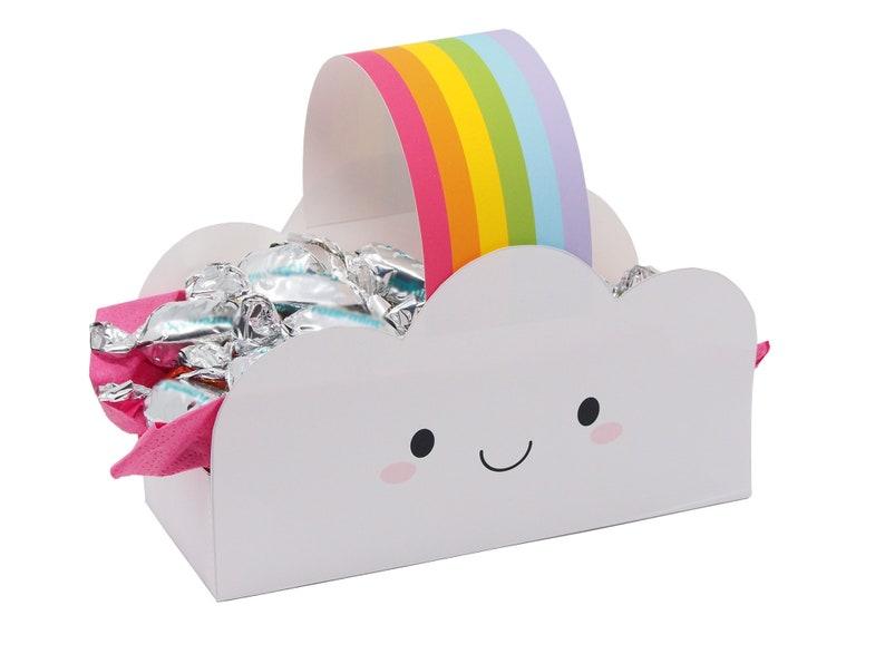 Rainbow Party Decoration. Rainbow Party Favor Box. Unicorn image 0