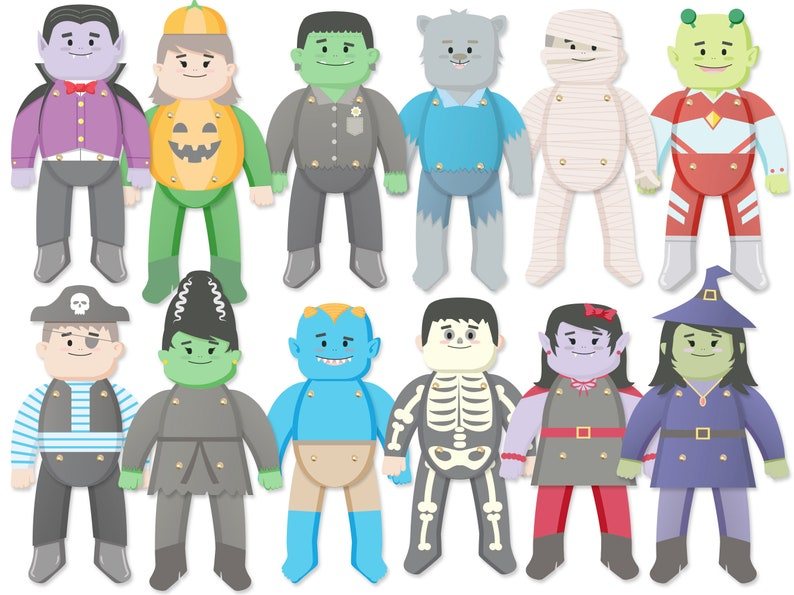 Halloween Printables. Paper Puppets. Halloween Craft. Cute image 1