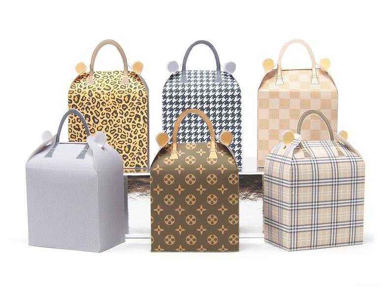 Fashion Party. 8 x Fashion Handbag Favor Boxes. Printable image 0