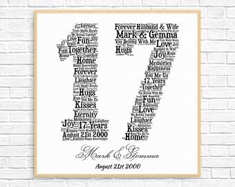 17 Year Anniversary Etsy