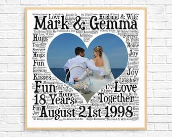 18th Anniversary Gift 18th Wedding Anniversary Porcelain Etsy