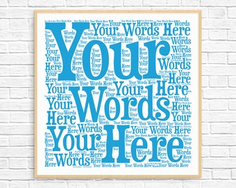 PERSONALIZED WORD ART ~ Printable Art ~ Unique Gift idea ~ Custom Word Art ~ Personalised Gift ~ Christmas Gift ~ Birthday Gift
