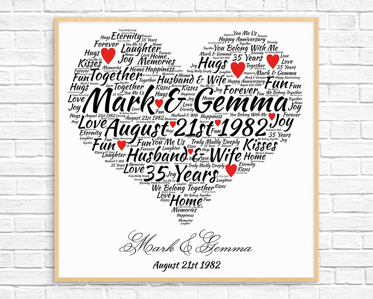 What Is The 35th Wedding Anniversary Gift: Personalized 35th ANNIVERSARY GIFT Coral Anniversary 35