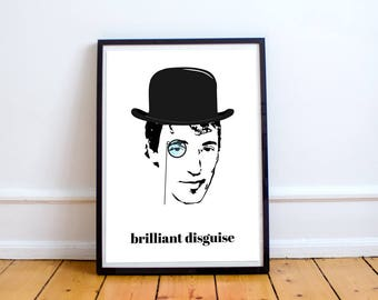 """Bruce Springsteen """"Brilliant Disguise"""" Poster - Music Poster - Poster Print - Wall Art"""