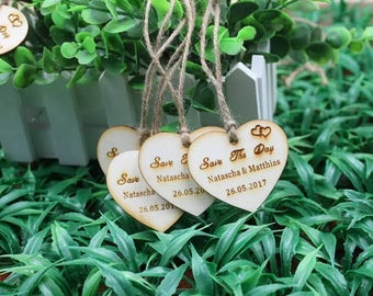 Personalised Wooden Save The Dates