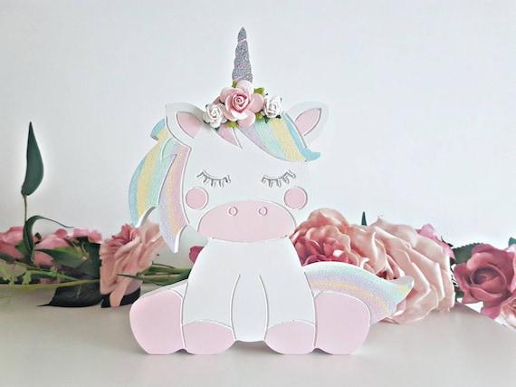 Unicorn shelfie, shelf decoration, little girls bedroom decor, wooden  decor, unicorns, rainbows, shelf filler, shelf decor, pastel nursery