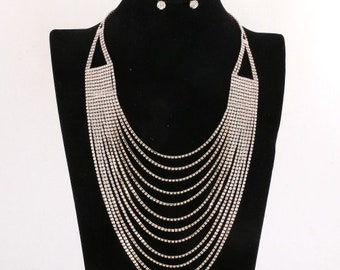 Multi Strand Crystal Necklace