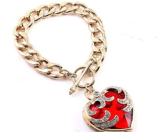 Love Heart Bracelet Locket