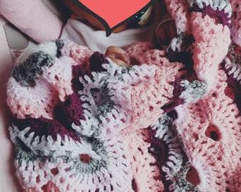 MaroonOrange MADE TO ORDER Crochet Virus Baby Blanket