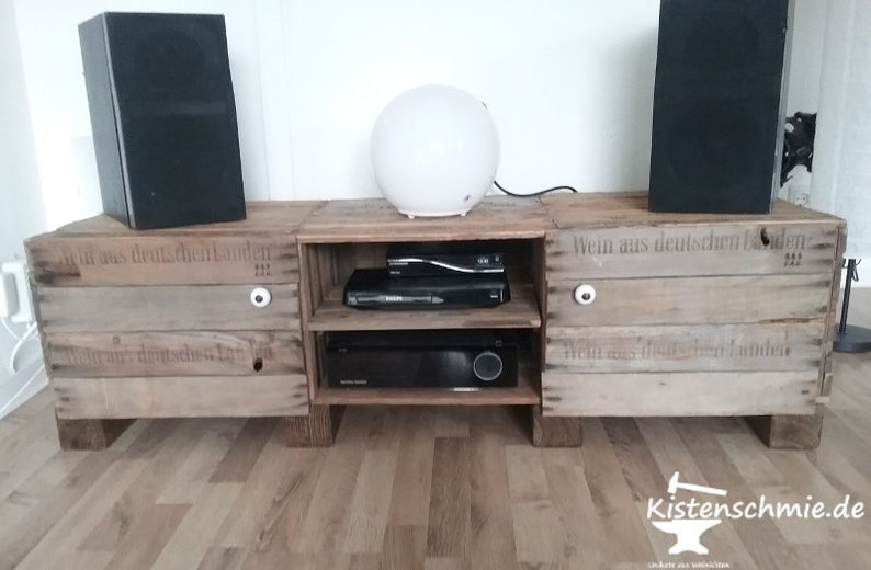Xxl Moviestar Large Tv Table Large Sideboard Made Of Old W Etsy
