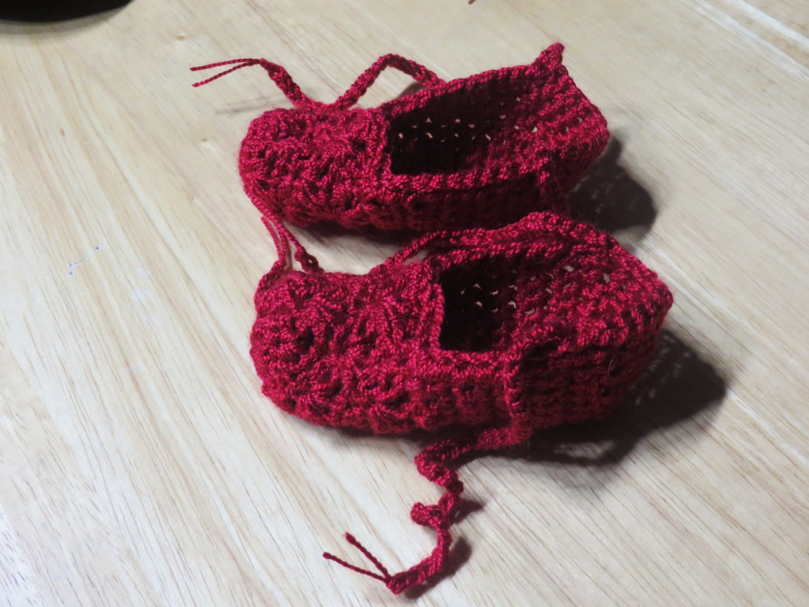 handmade crochet baby ballet slippers, booties, newborn - 6 months old, 6-12 months old, free shipping
