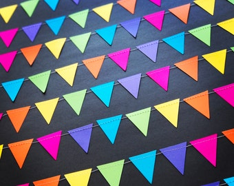 Colourful Triangle Pennant Garland
