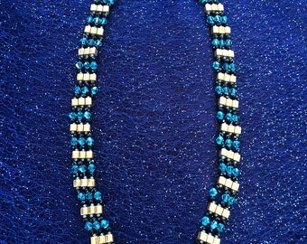 Gold, Turquoise, & Black Egyptian Princess Necklace