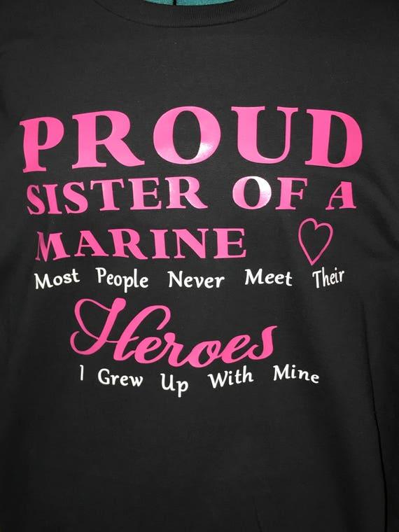 Marine Sister Tshirt Us Marine Proud Marine Sister Etsy