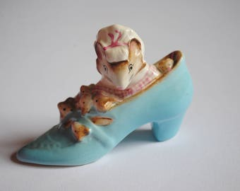 Beswick Beatrix Potter Collectable, Mouse Old Woman Who Lives in a Shoe Figurine