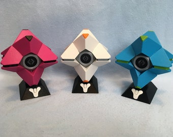 CUSTOMIZABLE Destiny Ghost w/ Magnets and LED (3D Printed)