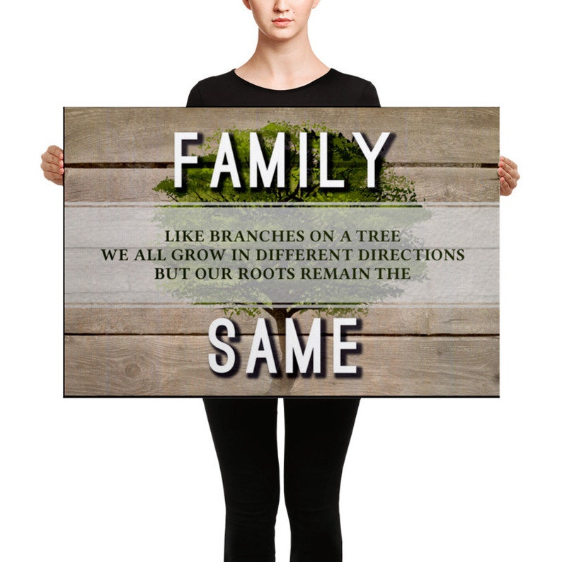 Family: Like Branches On A Tree - Wall Art Canvas