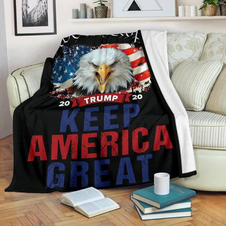 Blanket On Black We The People Keep America Great