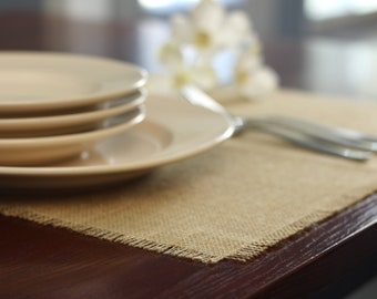 Natural Placemat 12x18, Burlap Placemats, Modern Placemats, Modern Table Settings, Home Decor