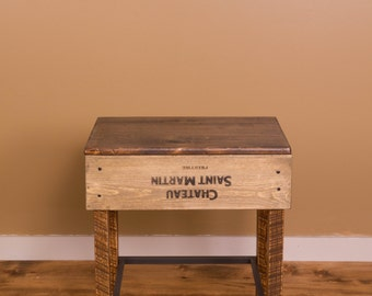 1113 Wine Crate Stools   Counter Height