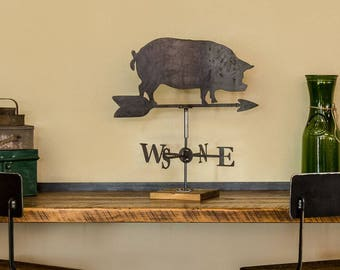 Pig Table Top Weather Vane